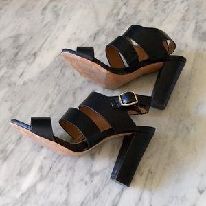 De Blossom Collection: Black Belted Heels